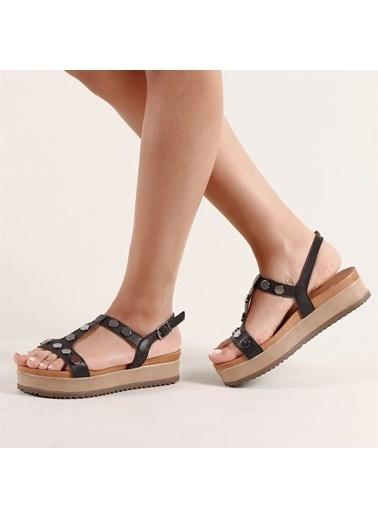 Hammer Jack Kadın Terlik / Sandalet 194 2136-Z Siyah